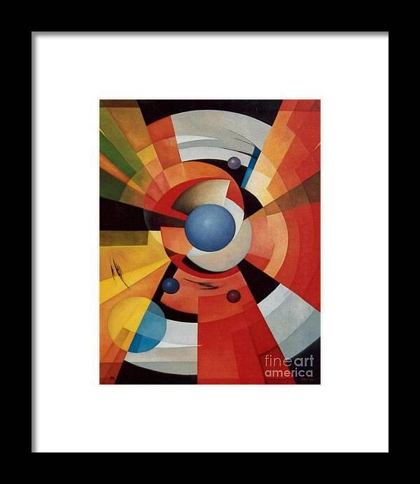 Abstract Framed Print featuring the painting Vertigo by Alberto DAssumpcao