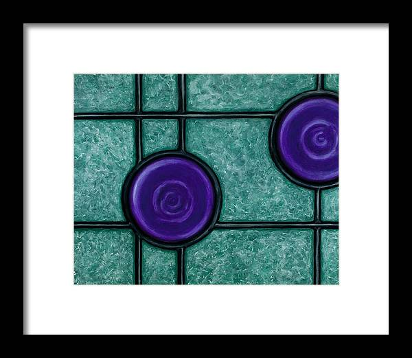 Circles Framed Print featuring the painting Verve by Don Mullins