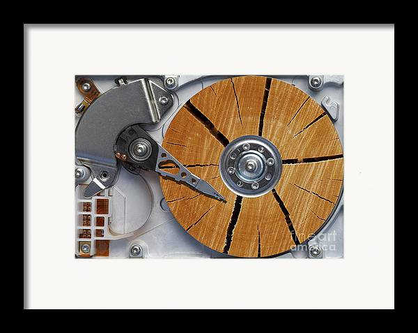 Humor Framed Print featuring the photograph Very Old Hard Disc by Michal Boubin