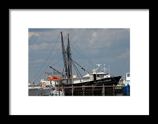 Commercial Fishing Boats Framed Print featuring the photograph Vessel 63 by Joyce StJames