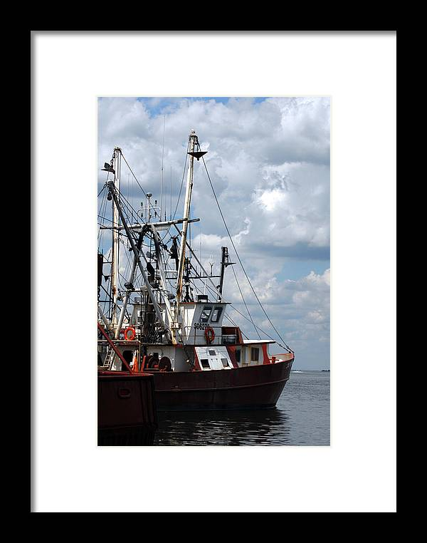 Commercial Fishing Boats Framed Print featuring the photograph Vessel 64 by Joyce StJames