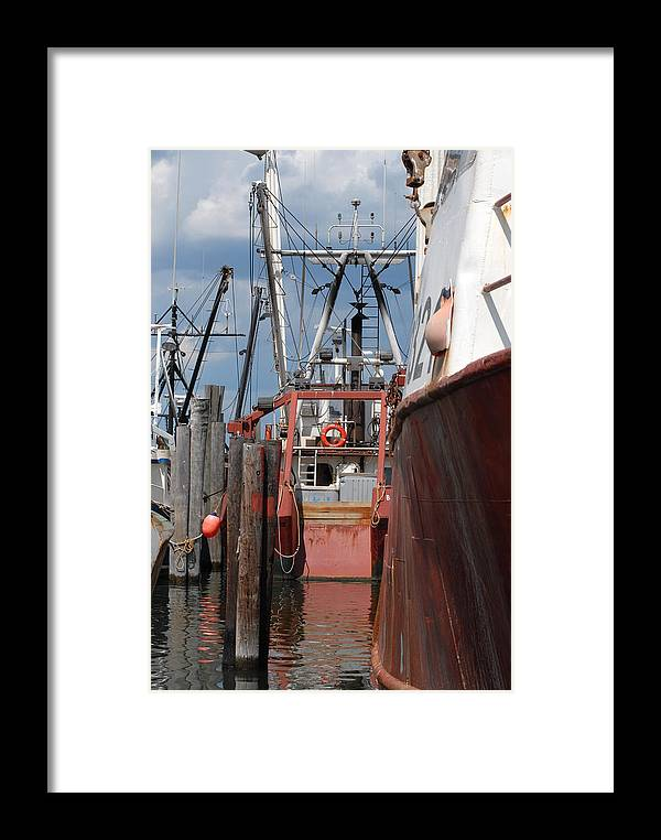 Commercial Fishing Boats Framed Print featuring the photograph Vessel 66 by Joyce StJames