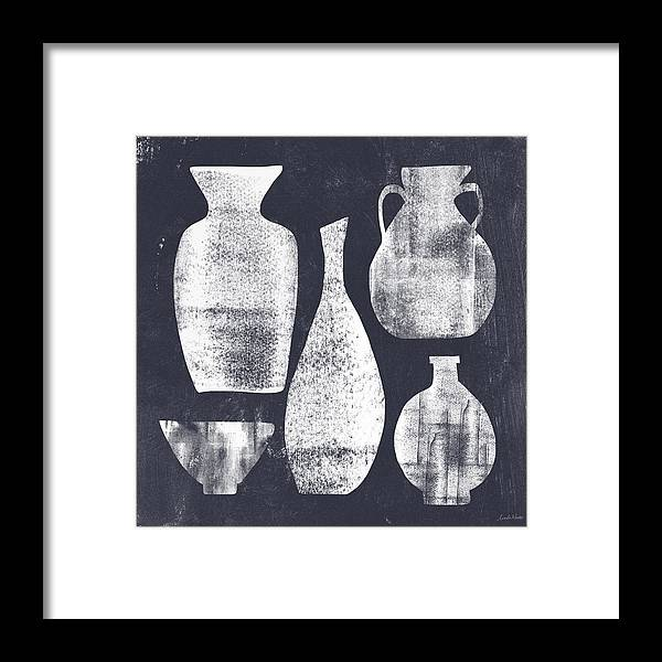 Vessel Framed Print featuring the painting Vessel Sampler- Art By Linda Woods by Linda Woods