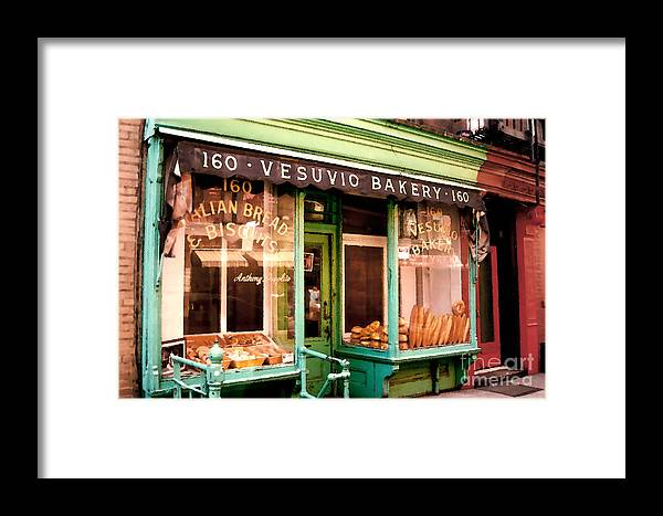 Abstract Framed Print featuring the photograph Vesuvio Bakery by Linda Parker
