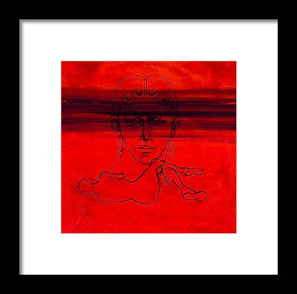 Portrait Framed Print featuring the painting Vesuvius Victim by Chris Riley