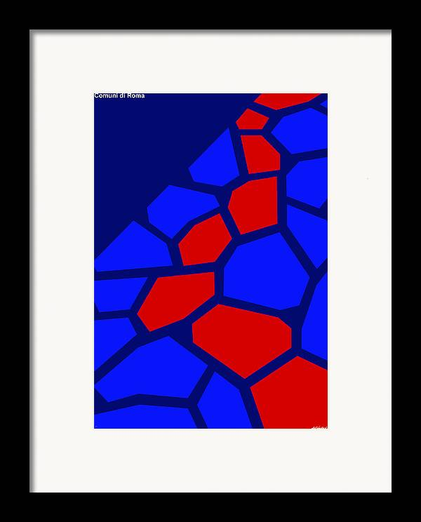 Framed Print featuring the painting Via Sacra by Asbjorn Lonvig