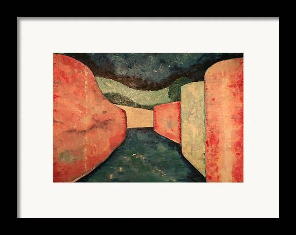 Framed Print featuring the painting Via San Leonardo by Biagio Civale