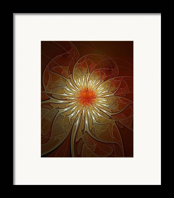 Digital Art Framed Print featuring the digital art Vibrance by Amanda Moore