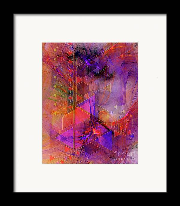 Vibrant Echoes Framed Print featuring the digital art Vibrant Echoes by John Beck