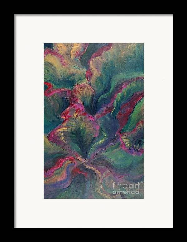 Leaves Framed Print featuring the painting Vibrant Leaves by Nadine Rippelmeyer