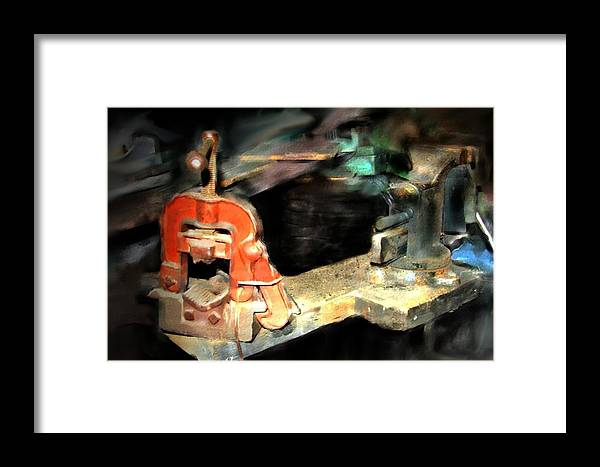 Stillife Framed Print featuring the photograph Vices Of My Father by Ken Barker