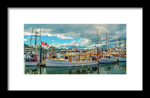 Boats Framed Print featuring the photograph Victoria Harbor old boats by Jason Brooks