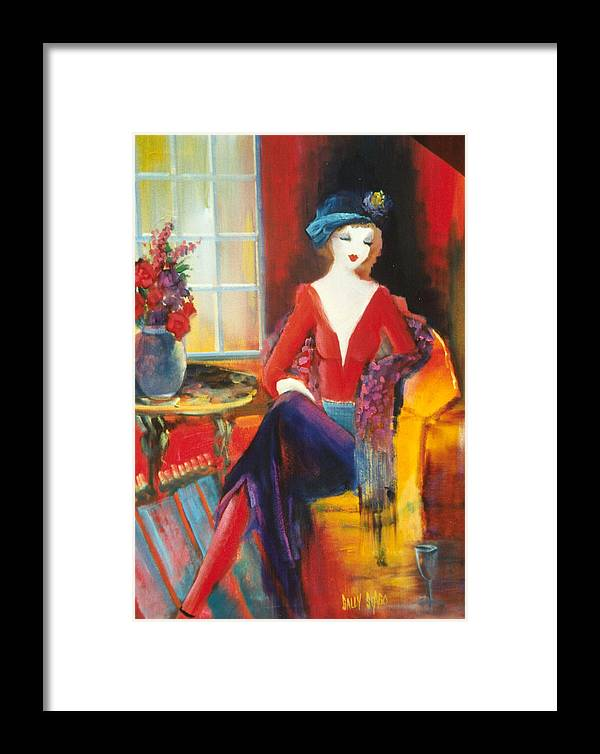 Cafe Framed Print featuring the painting Victoria Marie by Sally Seago