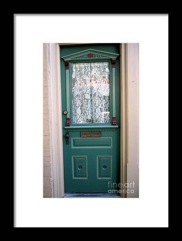 Door Framed Print featuring the photograph Victorian Door by Barbara Oberholtzer