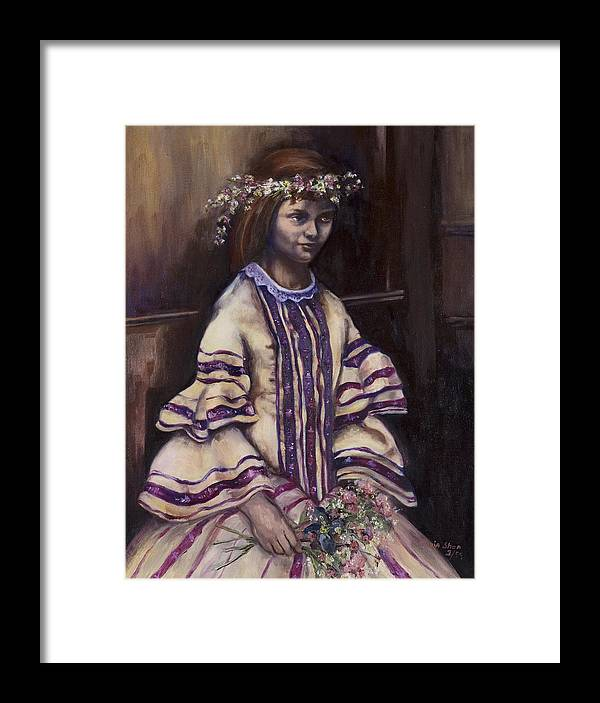 Portrait Framed Print featuring the painting Victorian Girl by Victoria Shea