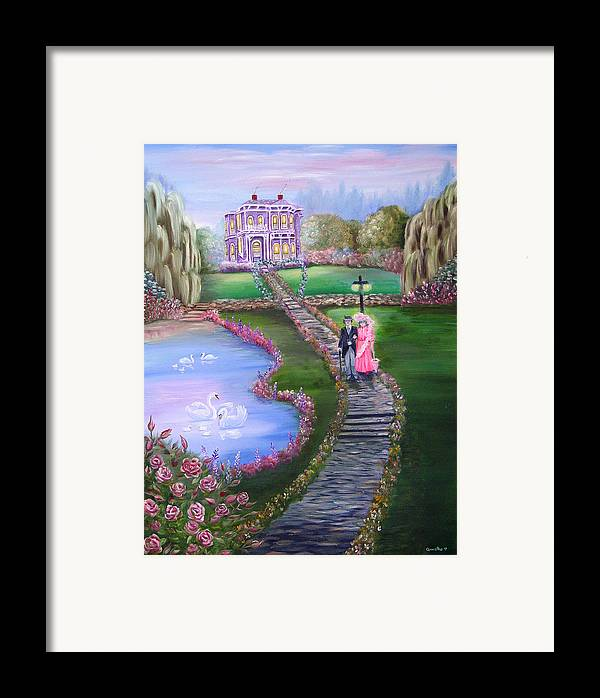 Victorian Framed Print featuring the painting Victorian Romance 2 by Quwatha Valentine