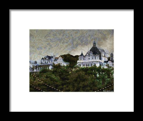 Buildings Framed Print featuring the painting Victoria's Diamond Jubilee by RC DeWinter