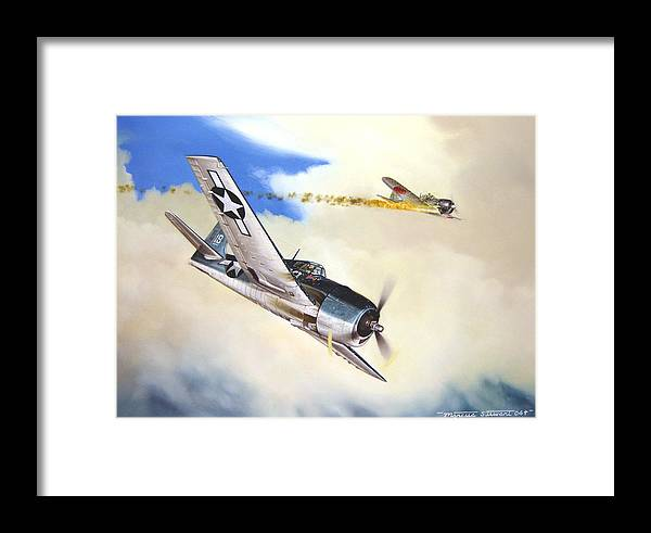 Military Framed Print featuring the painting Victory For Vraciu by Marc Stewart