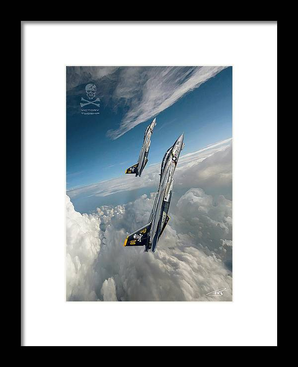 War Framed Print featuring the digital art Victory Twoship by Peter Van Stigt