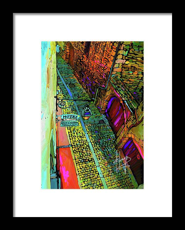 Beaune Framed Print featuring the painting View From A Hotel Room, Beaune, France by DC Langer
