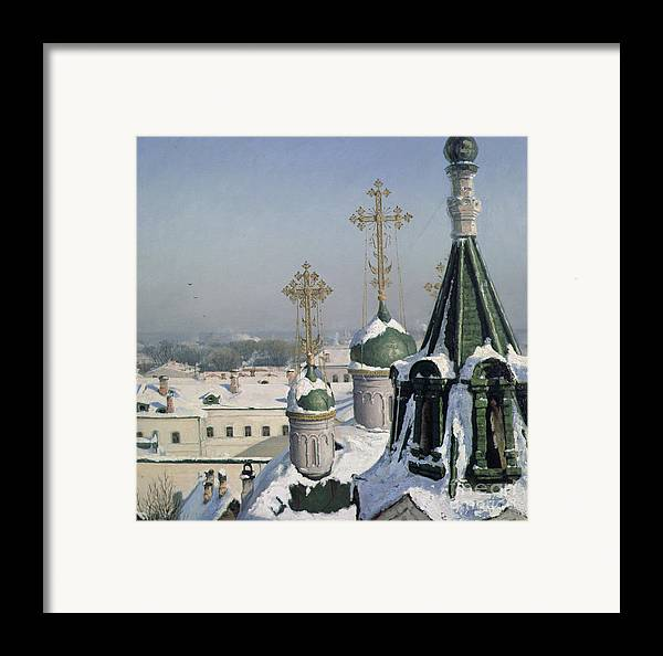 View Framed Print featuring the painting View From A Window Of The Moscow School Of Painting by Sergei Ivanovich Svetoslavsky