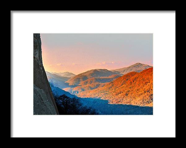 Landscape Framed Print featuring the photograph View From Chimney Rock-north Carolina by Steve Karol