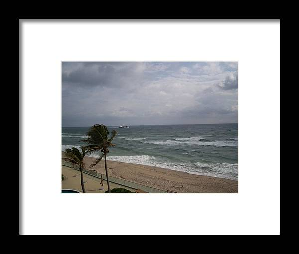 Condo Framed Print featuring the photograph View From Condo by Karen Thompson