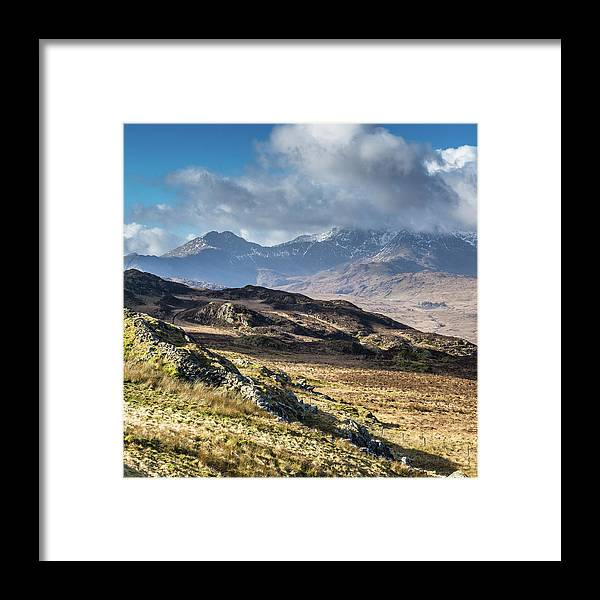Moel Siabod Framed Print featuring the photograph View from Moel Siabod, Snowdonia, North Wales by Anthony Lawlor
