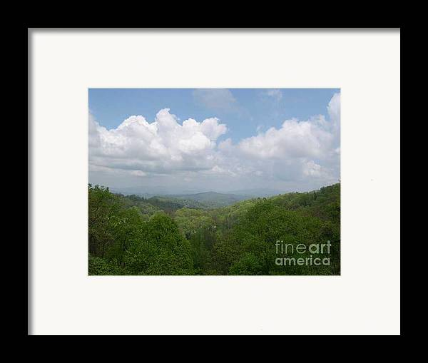 Mountains Framed Print featuring the photograph View From Ober Gatlinburg by Barb Montanye Meseroll
