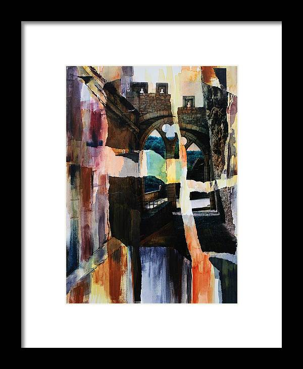 Watercolor Framed Print featuring the painting View From Rocamadour by Tara Moorman