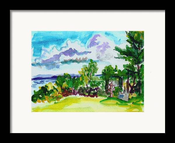 Landscape Framed Print featuring the painting View From Rockcraft by Gail Wartell