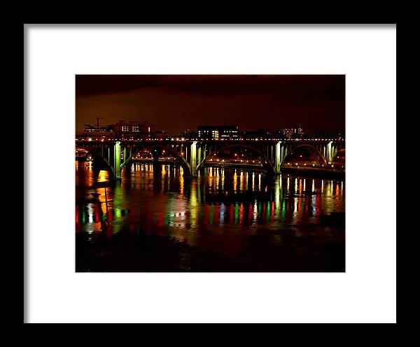 Christmas Framed Print featuring the photograph View From The Gay Street Bridge by Ron Plasencia