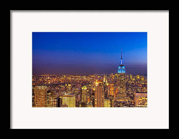 New York Framed Print featuring the photograph View From The Top - Nyc Skyline by Mark E Tisdale