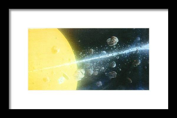 Spacescape Framed Print featuring the painting View Master by A Robert Malcom