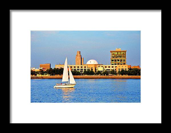 Moshulu Framed Print featuring the photograph View Of Camden From Philadelphia by Andrew Dinh