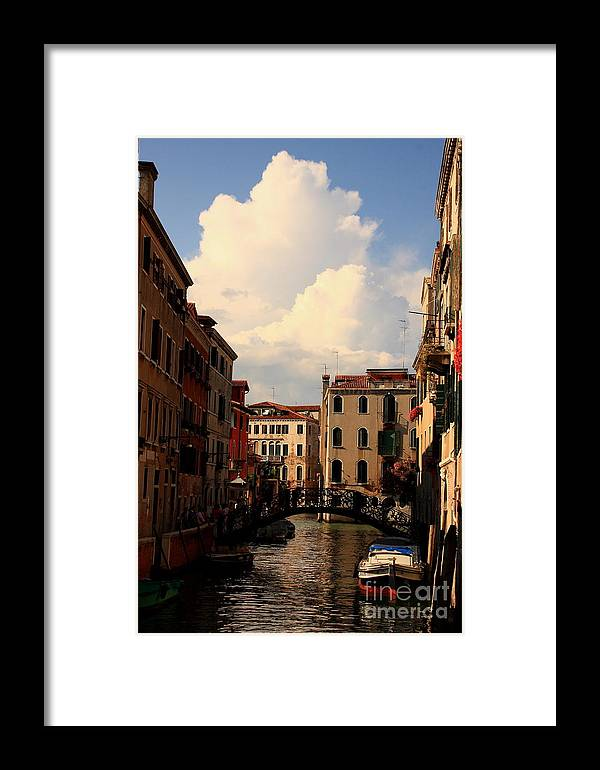 Venice Framed Print featuring the photograph View Of Canal In Venice by Michael Henderson
