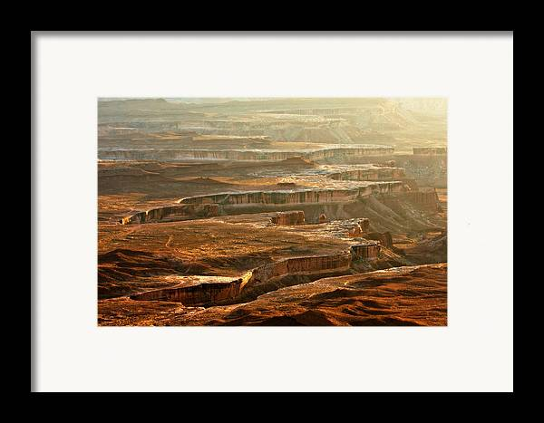 Landscape Framed Print featuring the photograph View Of Canyonlands by Carl Jackson