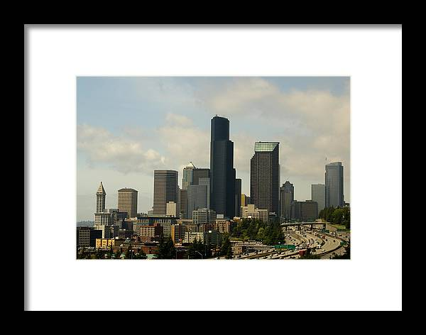 Urban Framed Print featuring the photograph View Of Downtown by Sonja Anderson