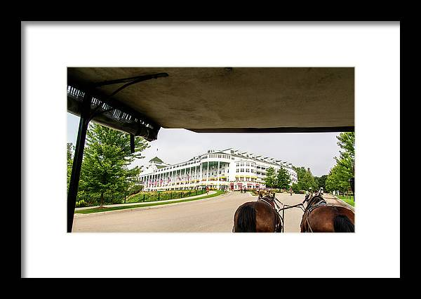 Grand Hotel Framed Print featuring the photograph View of Grand Hotel by Randy J Heath