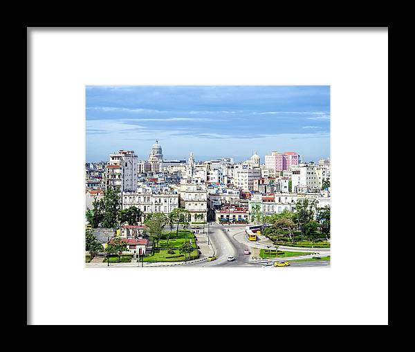Old Framed Print featuring the photograph View Of Old Town Havana by Marge Sudol