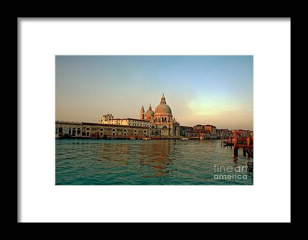 Venice Framed Print featuring the photograph View Of Santa Maria Della Salute On Grand Canal In Venice by Michael Henderson