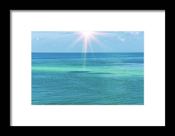 Atlantic Ocean Framed Print featuring the photograph View Of The Atlantic Ocean by Art Spectrum