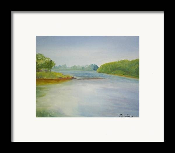 Delaware River Framed Print featuring the painting View Of The Delaware by Sheila Mashaw