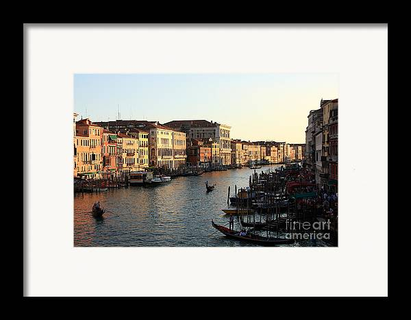 Venice Framed Print featuring the photograph View Of The Grand Canal In Venice From The Rialto Bridge by Michael Henderson