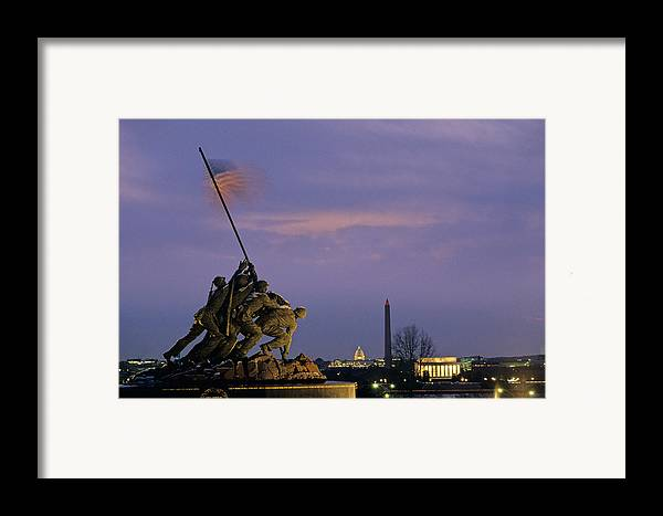 Bravery Framed Print featuring the photograph View Of The Iwo Jima Monument by Kenneth Garrett