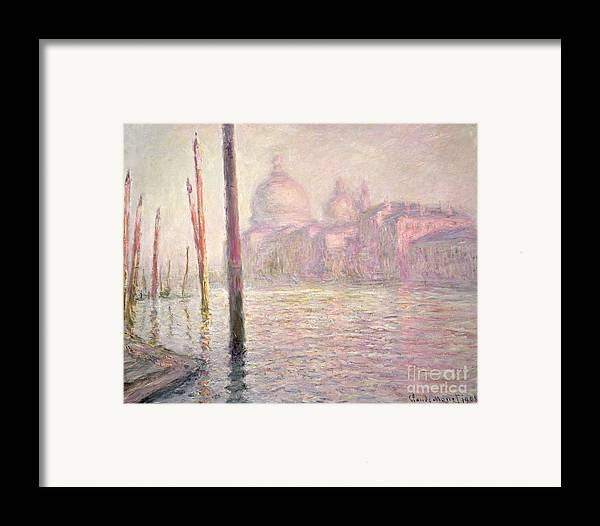French Framed Print featuring the painting View Of Venice by Claude Monet