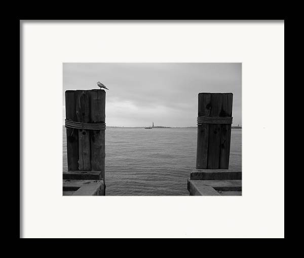 Nyc Framed Print featuring the photograph View Toward Statue Of Liberty In Nyc by Utopia Concepts