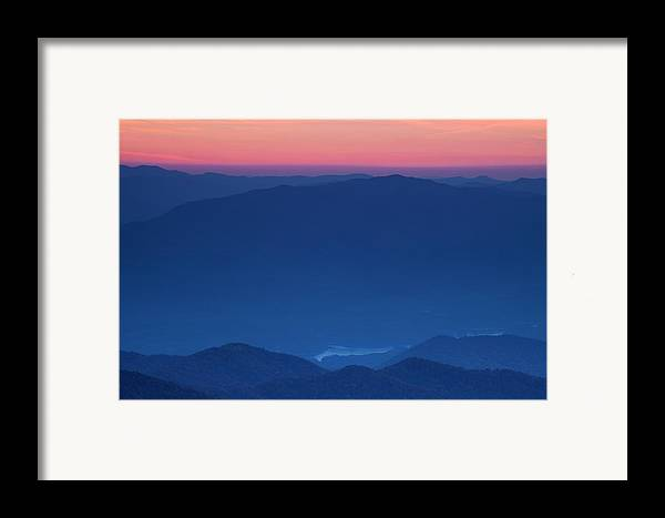 Sunset Framed Print featuring the photograph View Towards Fontana Lake At Sunset by Andrew Soundarajan