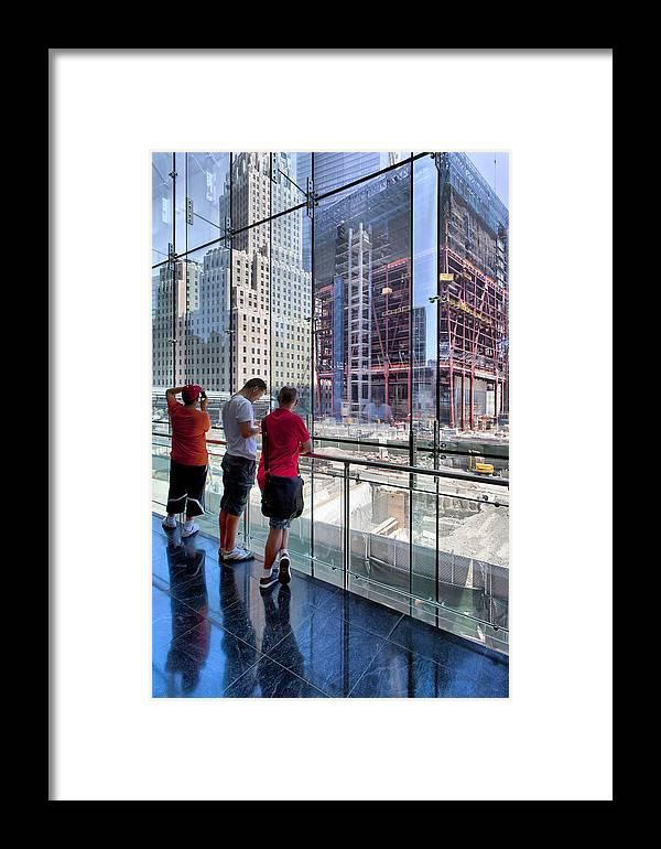 Ground Zero Framed Print featuring the photograph Viewing Ground Zero 2 by Robert Ullmann