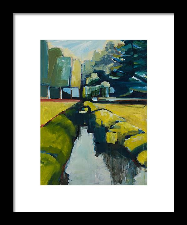 Contemporary Landscape Framed Print featuring the painting Viewpoint by Michele Norris